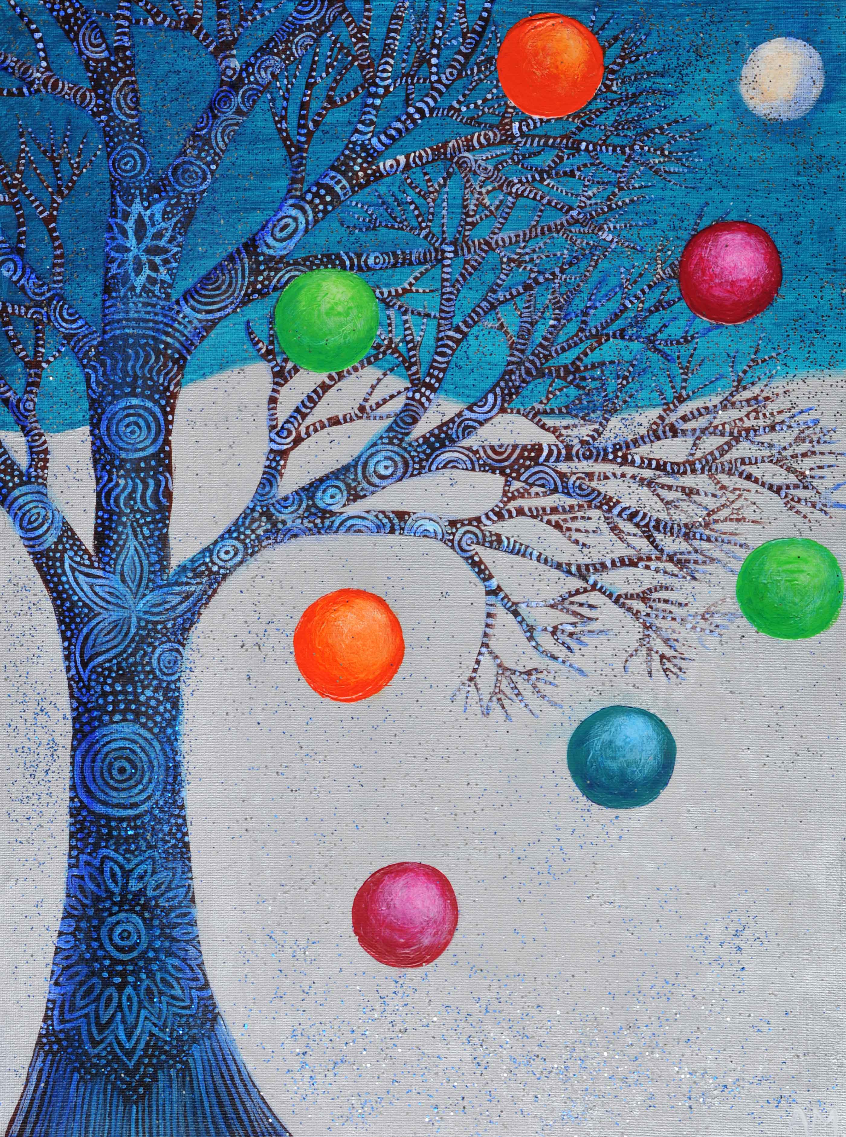 Easy Christmas Tree Paintings PaintingsEasy Winter