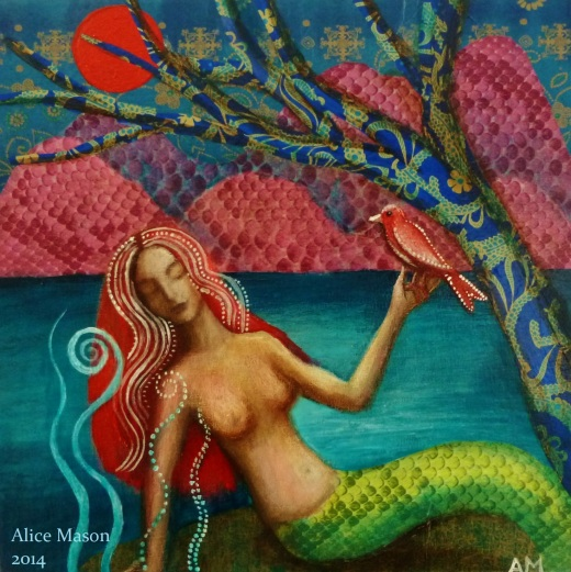 Mermaid with Bird