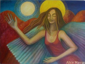 Angel and Moon