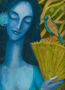 blue-spanish-woman-and-bird