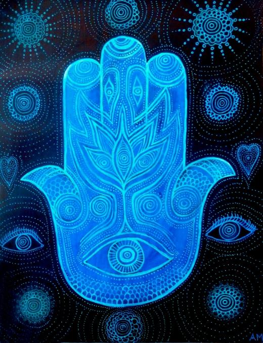 hamsa-in-blue