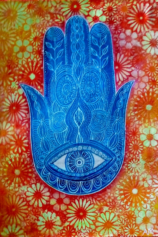 HAMSA orange and blue